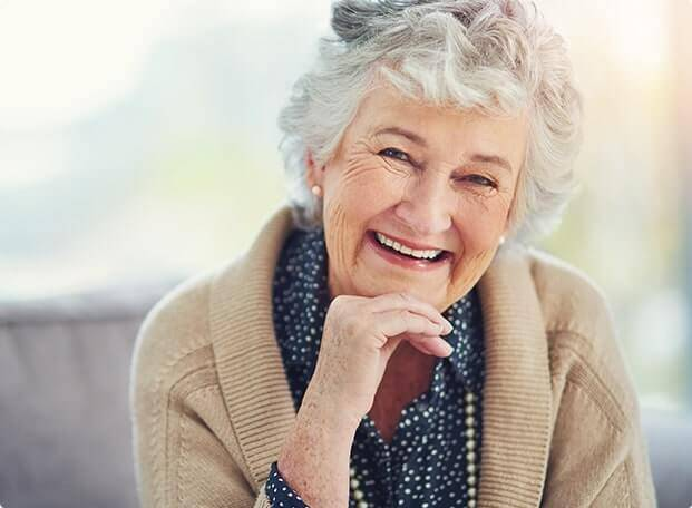 Old woman with dentures